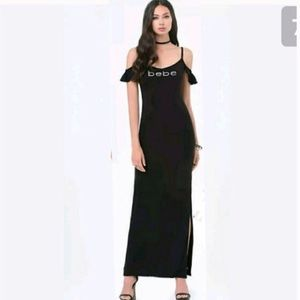 ⭐️Final price⭐️ BEBE Logo Cold Shoulder Maxi dress